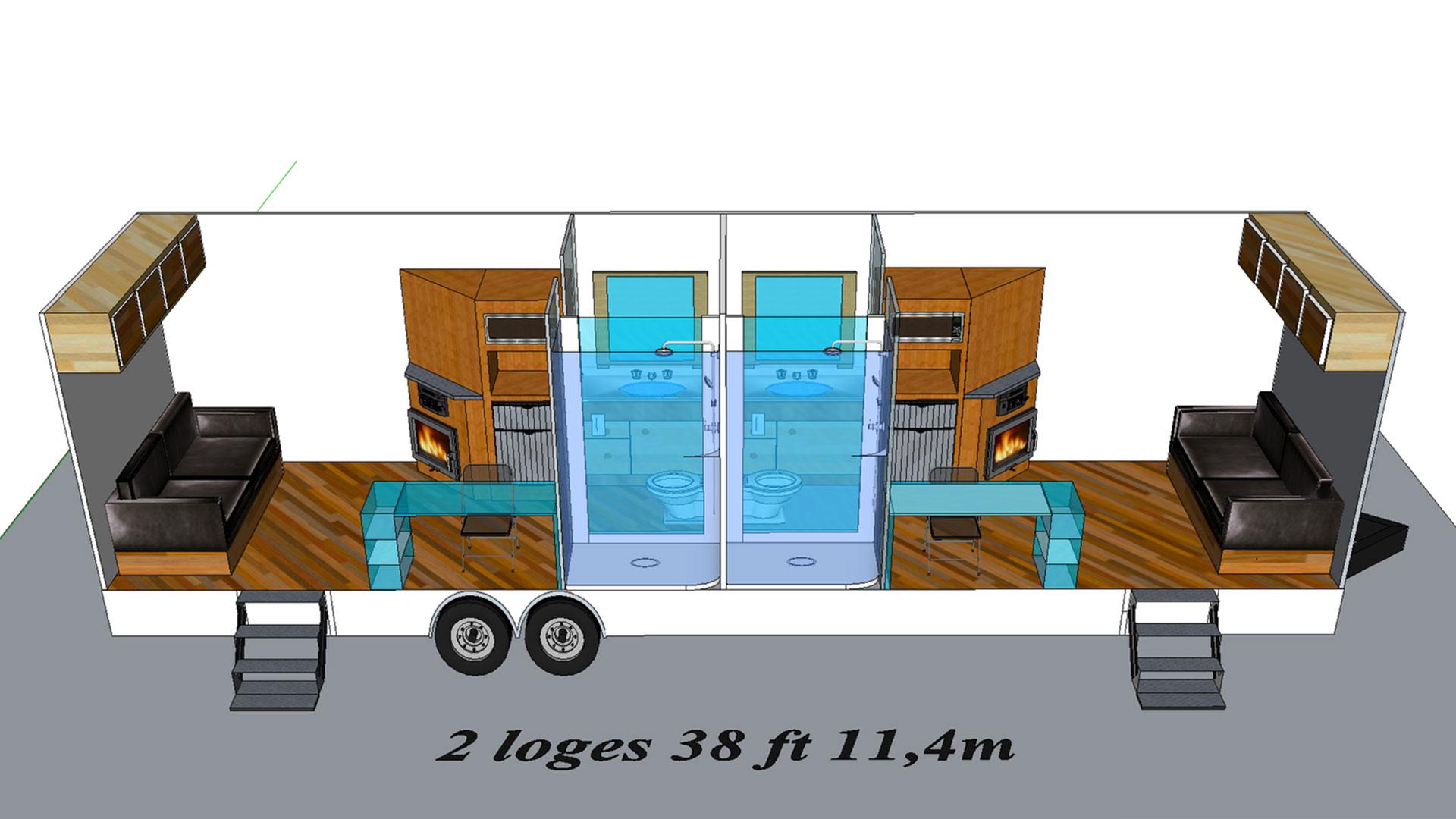 2 Loges modèle 3D
