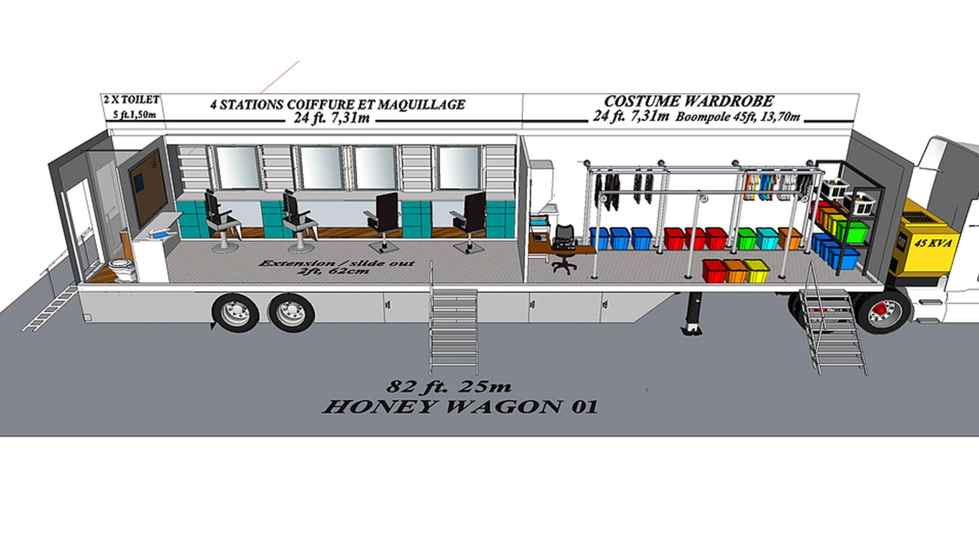 Honey Wagon 01 modèle 3D