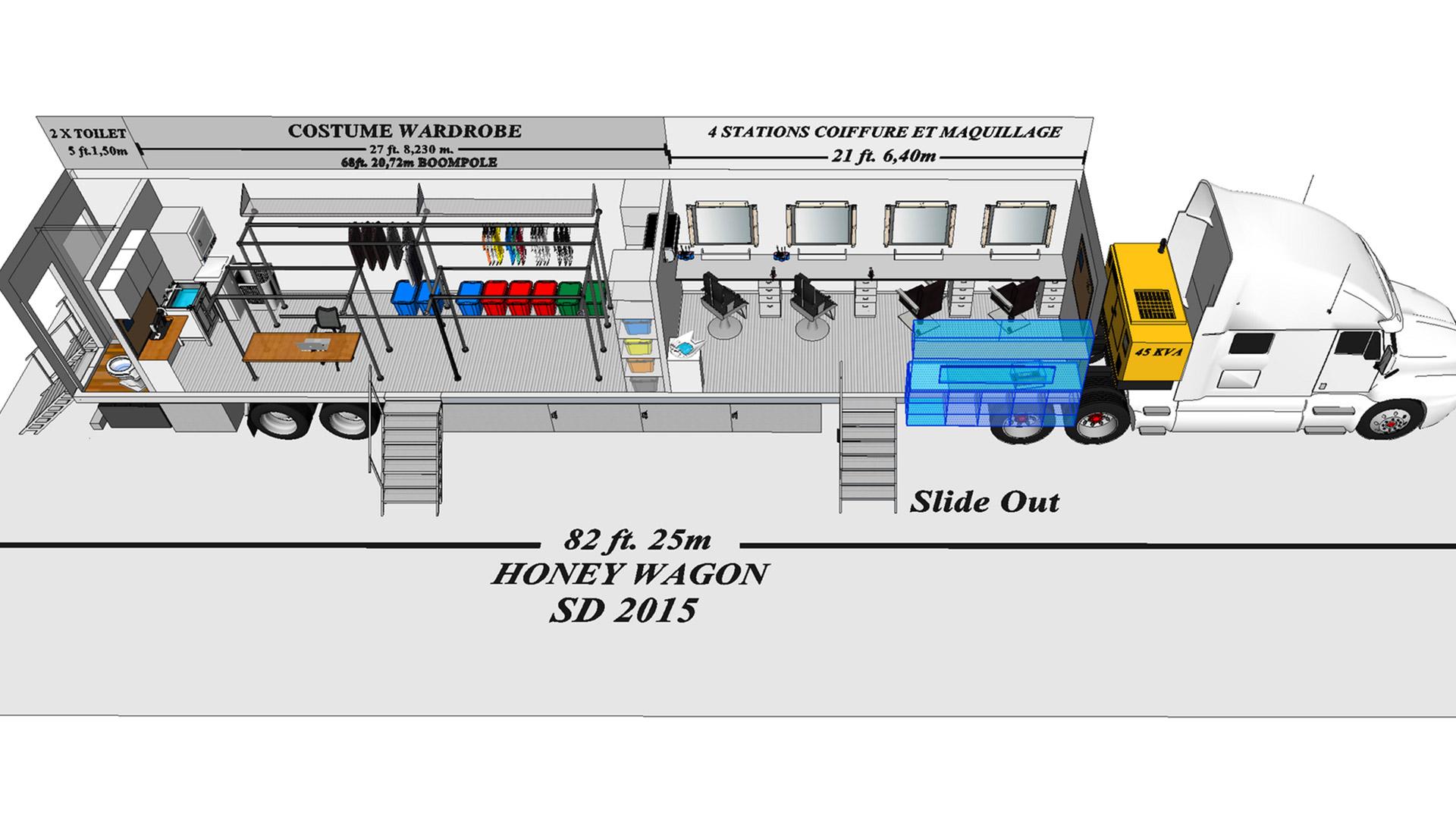 Honey Wagon 04 modèle 3D