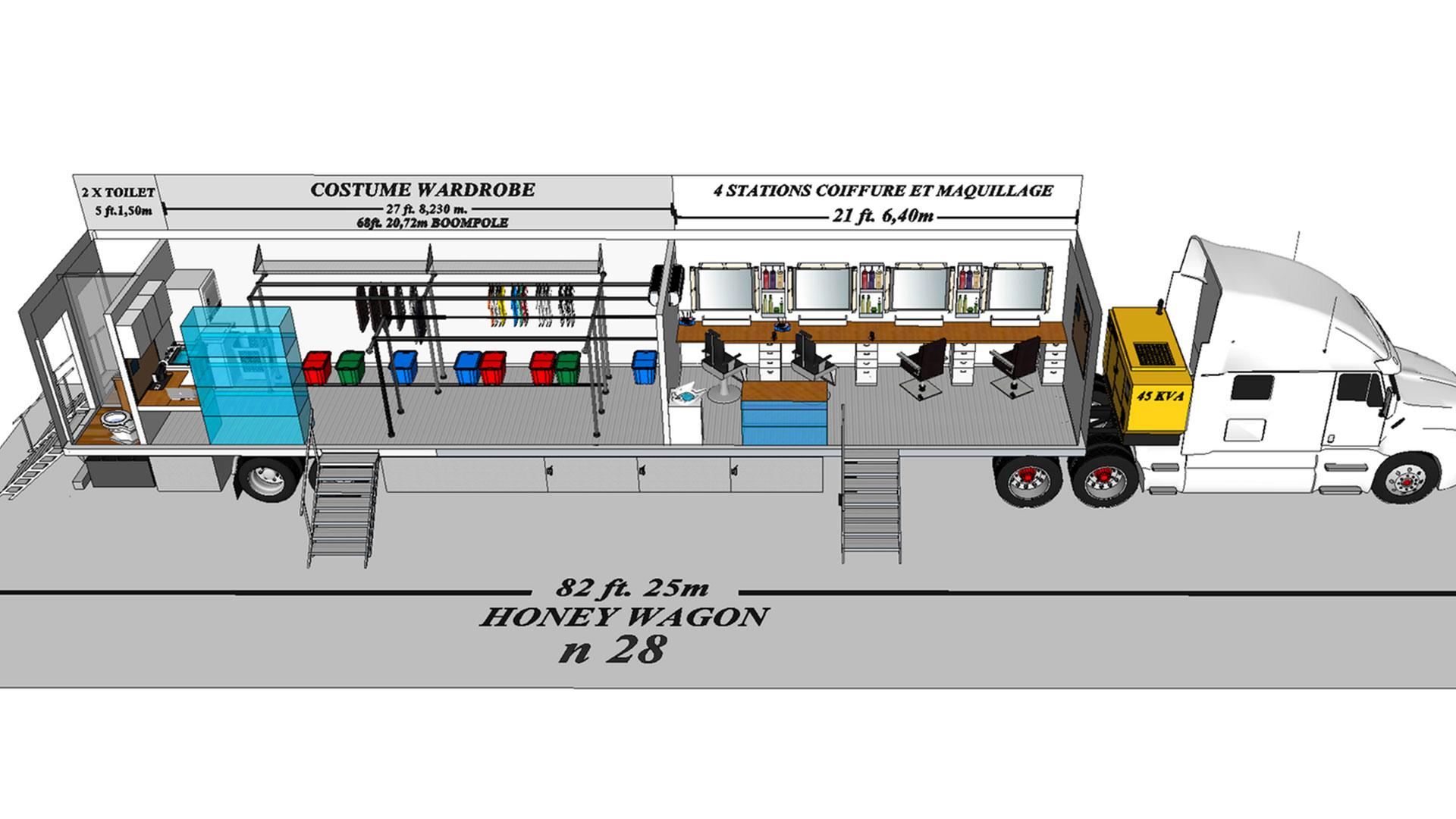 Honey Wagon 28 modèle 3D