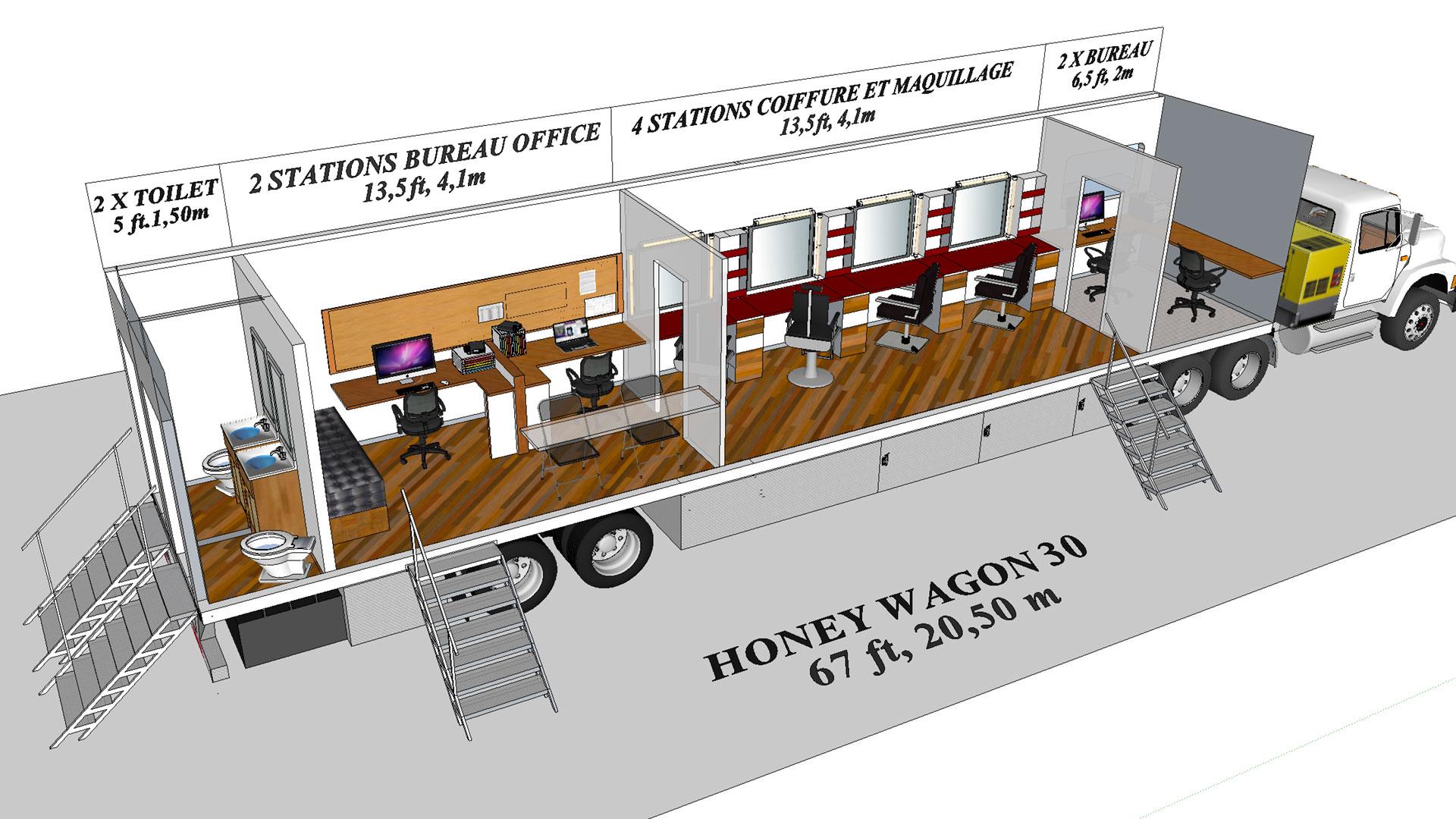 Honey Wagon 30 modèle 3D