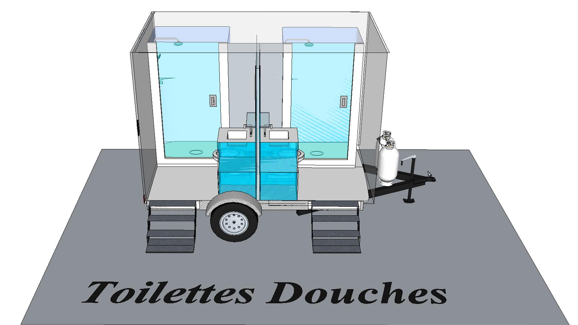 Toilette T2 modèle 3D