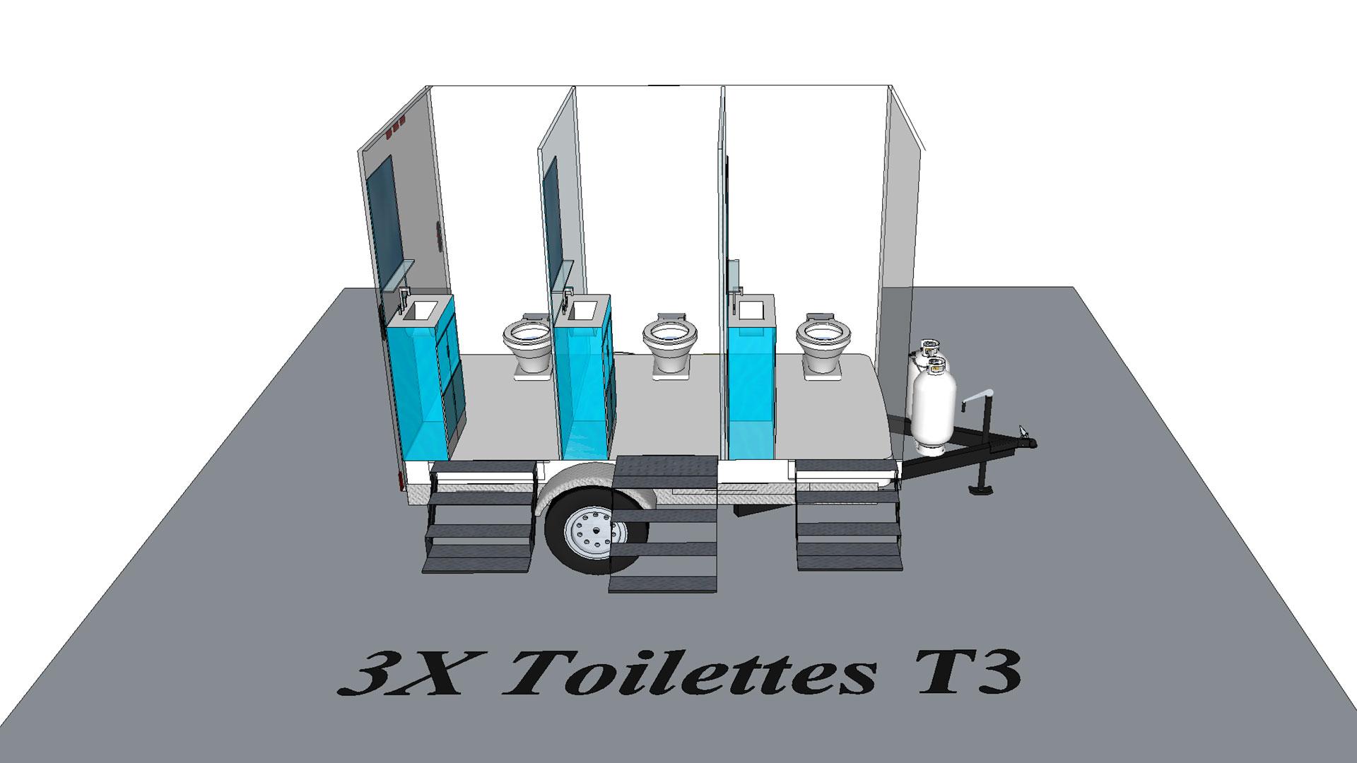 Toilette T3 modèle 3D