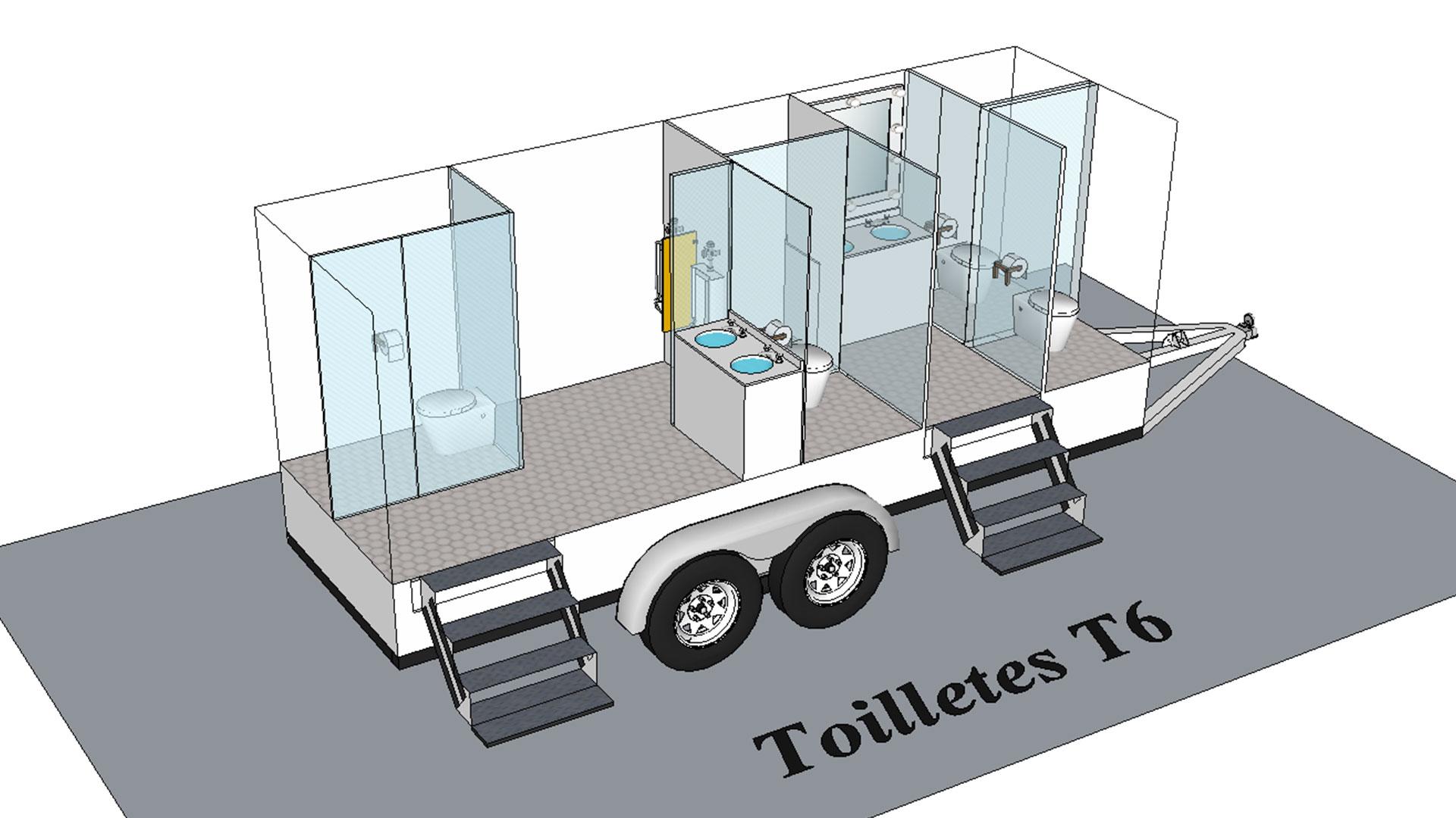 Toilette T6 modèle 3D